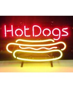Hot Dog Neon Sign by Neonetics