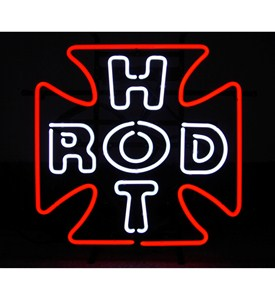 Hot Rod Cross Neon Sign by Neonetics Image