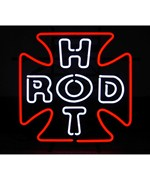 Hot Rod Cross Neon Sign by Neonetics