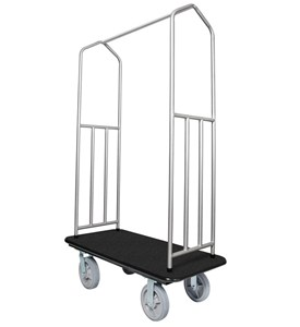 Hotel Luggage Cart - Chrome Image
