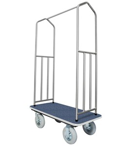 Hotel Luggage Cart - Stainless Steel Image