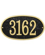 House Number Plaque - Oval - Fast and Easy
