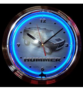 Hummer Neon Clock by Neonetics Image