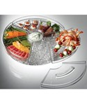 Rotating Appetizers-On-Ice Tray with Lids