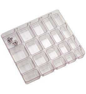 Small Clear Jewelry Organizer 20 Compartment In Jewelry