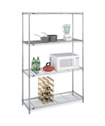 Large InterMetro Four-Shelf Unit - Chrome