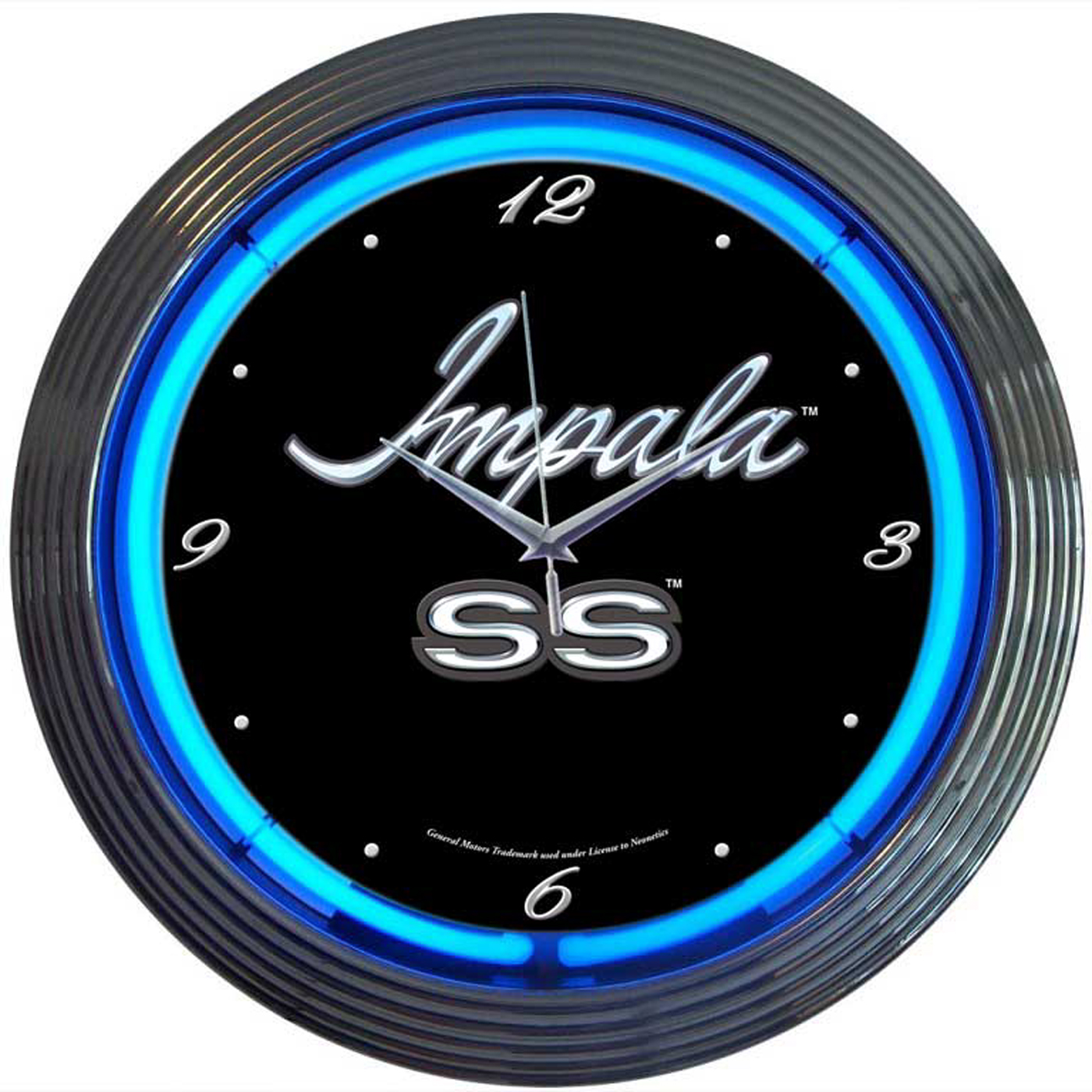 Impala Neon Clock by Neonetics in Wall Clocks