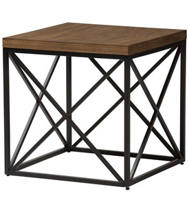 Industrial Square End Table Image