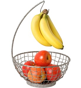 Industrial Fruit Bowl with Banana Hook Image