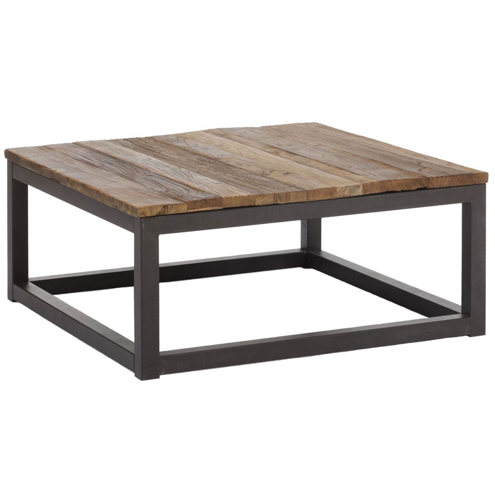 Industrial square coffee table in coffee tables for Coffee tables industrial