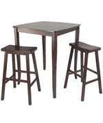 Inglewood 3PC High Table with Saddle Stools - by Winsome Trading