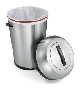 Indoor / Outdoor Stainless Steel Trash Can Image