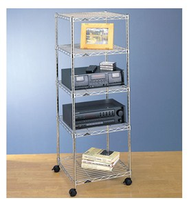 InterMetro Five-Tier Cart - Chrome Image