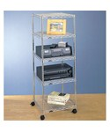 InterMetro Five-Tier Cart - Chrome