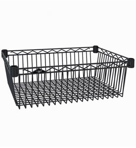 InterMetro Storage Basket Shelf - Black Image