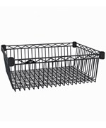 InterMetro Storage Basket Shelf - Black