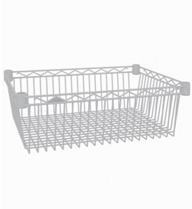 InterMetro Storage Basket Shelf - White Image