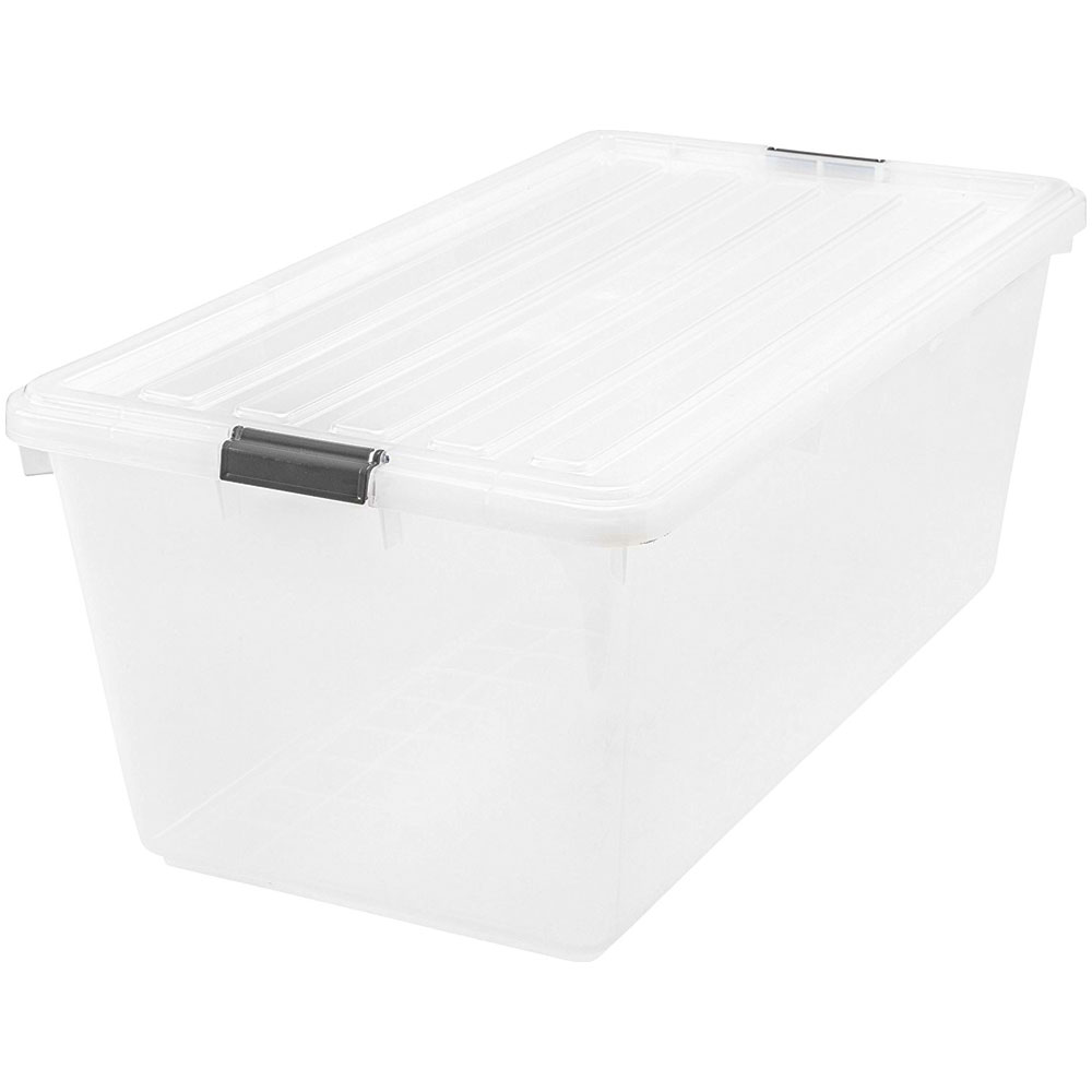 Sterilite Footlocker · Airtight Storage Box   Medium · Iris Clear Plastic  Tote   91 Quart ...