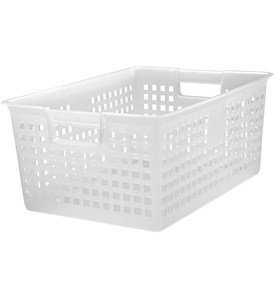Iris Plastic Mesh Storage Baskets - Clear Image