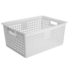 Iris Plastic Mesh Storage Baskets - White Image