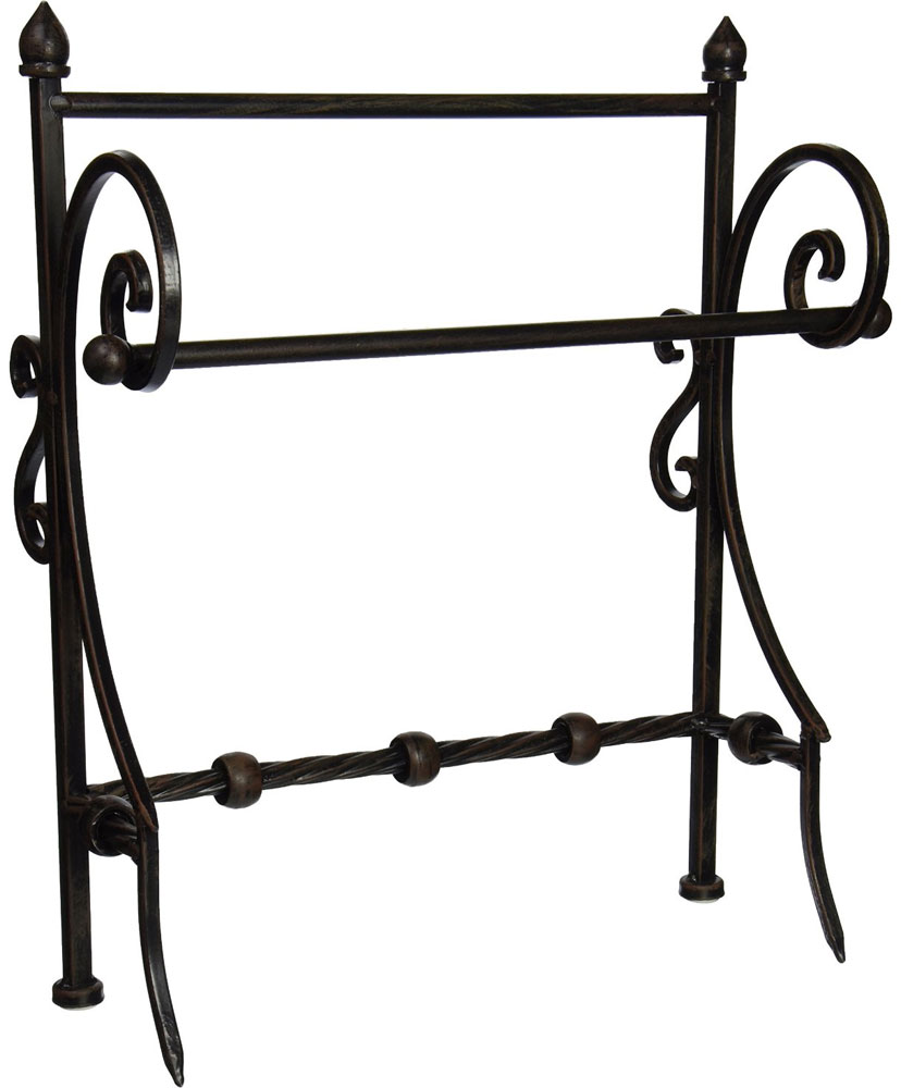 Wrought Iron Towel Holder In Paper Towel Holders