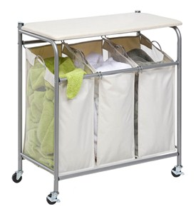 Laundry Sorter with Ironing Board Image