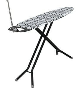 Ironing Board with Iron Rest - Black Image
