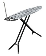 Ironing Board with Iron Rest - Black