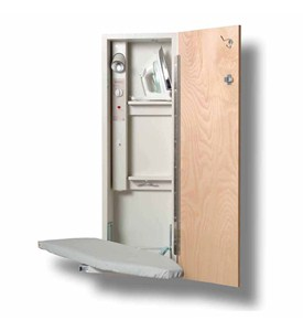 42 Inch Left Hinge Deluxe Swivel Ironing Center with Unfinished Birch Door Image