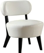 IVORY BONDED LEATHER ACCENT CHAIR BY MONARCH SPECIALTIES