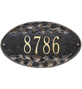 Ivy Oval Home Address Plaque Image