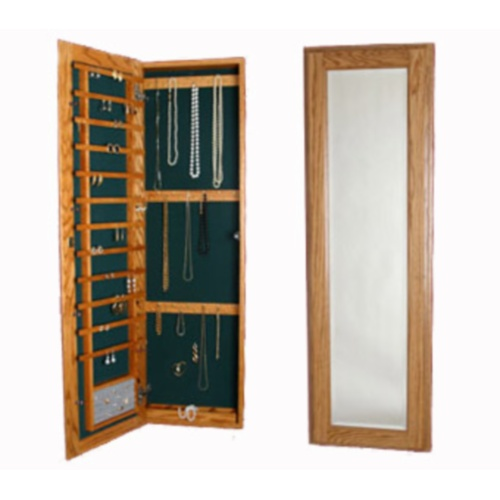 Large Wall Mounted Jewelry Cabinet - No Lock in Jewelry Cabinets