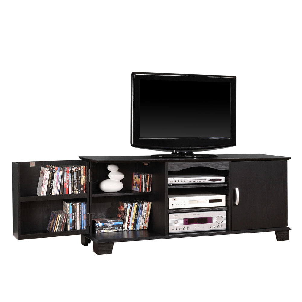 60 inch wood tv stand with media storage by walker edison in tv stands. Black Bedroom Furniture Sets. Home Design Ideas