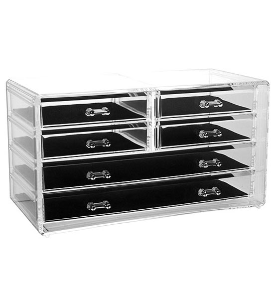 Acrylic Jewelry Boxes : Six drawer acrylic jewelry chest in boxes and