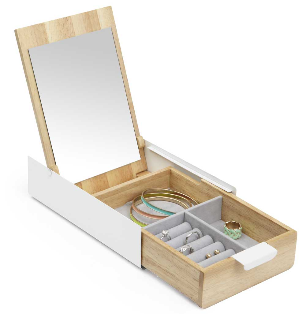 Jewelry Drawer Organizer Umbra Reflexion Box in Jewelry Boxes and