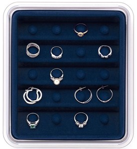 Jewelry Organizer - Rings and Hoop Earrings Image