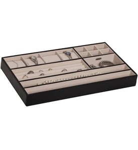 Jewelry Organizer Tray - Faux Leather Image