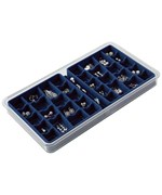 36-Compartment Jewelry Organizer - Blue