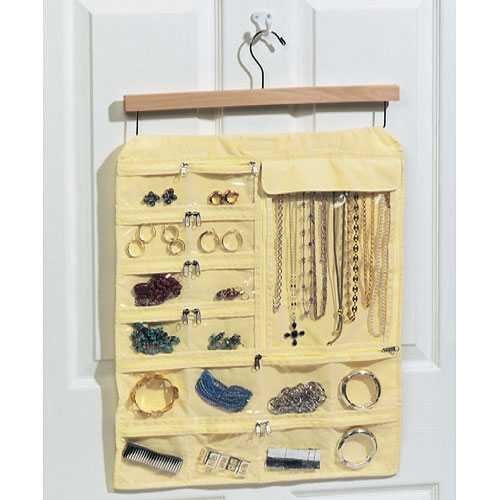 Hanging 35Pocket Jewelry Keeper in Hanging Jewelry Organizers