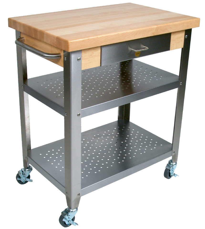 Kitchen Cart With Drawers: Mobile Kitchen Cart With Drawer In Kitchen Island Carts