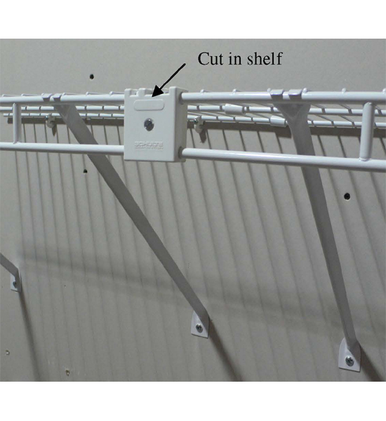 Wire Shelf Joiner Clip Kit In Wire Closet Shelving