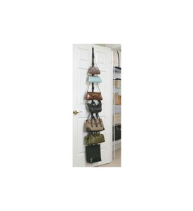 Over the Door Adjustable Purse Rack Image
