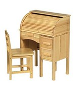 Jr. Roll Top Desk - Solid Pine Frame by Guidecraft