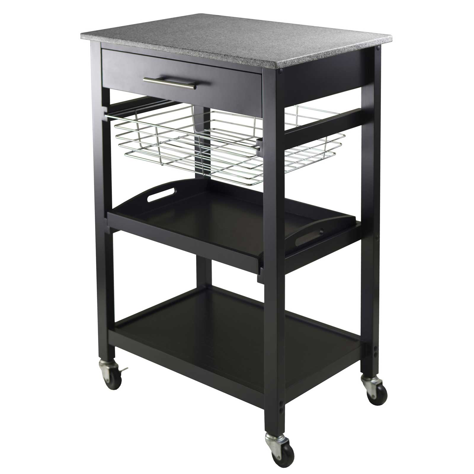 julia kitchen utility cart by winsome in kitchen island carts