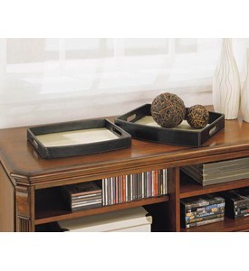 Jute Trays (set of Two) by Neu Home Image