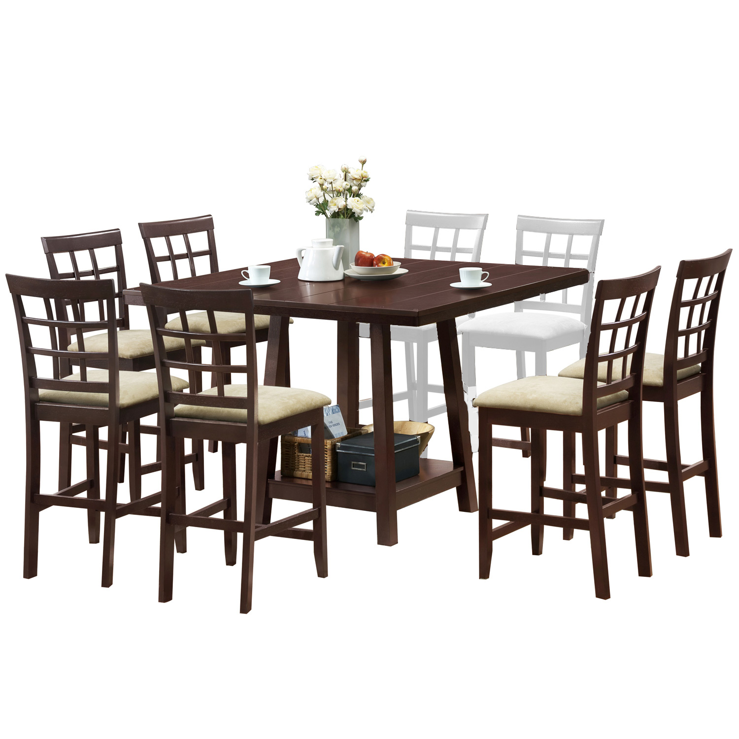Katelyn 7 Piece Modern Pub Table Set By Wholesale