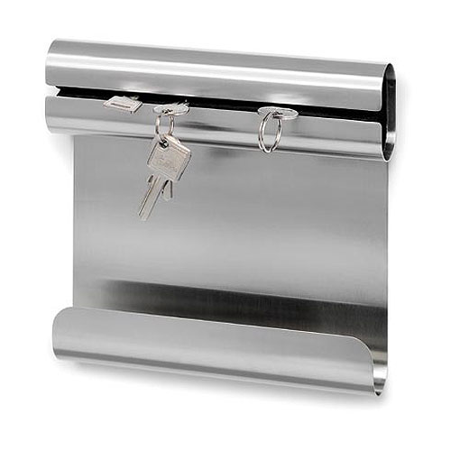 Stainless Key Holder with Shelf
