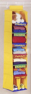 Days Of The Week Kids Organizer Image