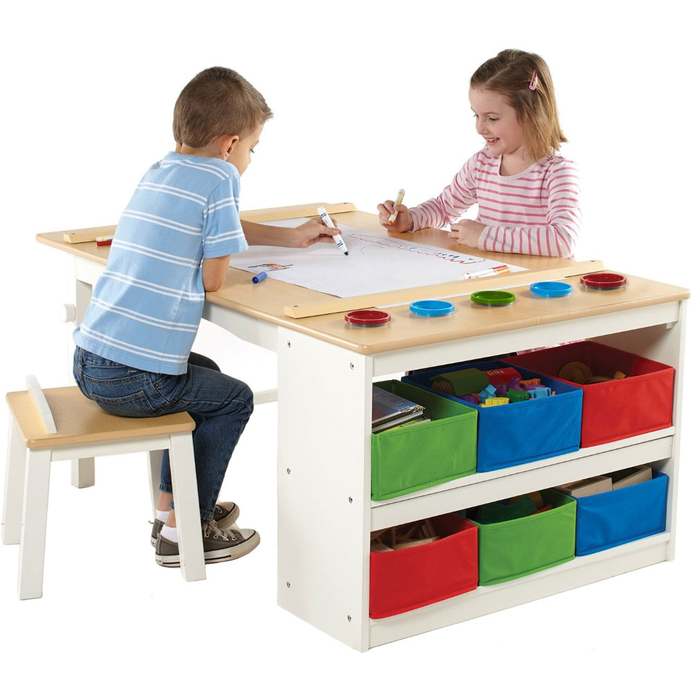 kids arts and crafts table in kids desks. Black Bedroom Furniture Sets. Home Design Ideas
