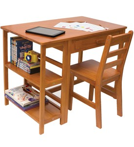 Kids Desk and Bookcase Image
